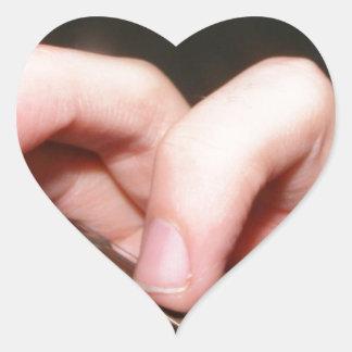 Fingers on Fretboard Heart Stickers