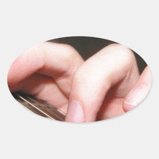 Fingers on Fretboard Oval Stickers