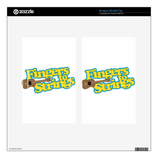 Fingers to Strings Kindle Fire Decal
