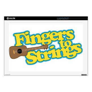 Fingers to Strings Laptop Skins