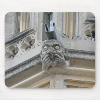 Fingers-up-nose gargoyle mousemat