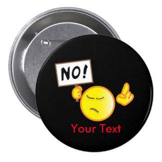 Fingerwag emoticon pinback button