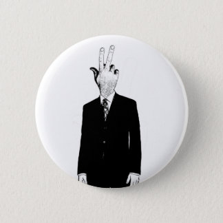 finghead pinback button