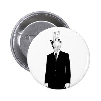 finghead pinback button