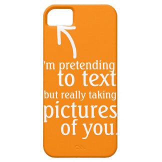 Fingimiento al texto iPhone 5 Case-Mate cobertura