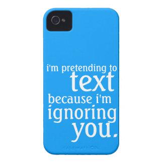 Fingimiento al texto pero negligencia de usted iPhone 4 cárcasas