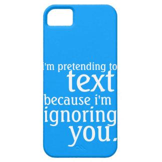 Fingimiento al texto pero negligencia de usted iPhone 5 Case-Mate funda