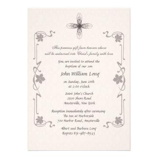 Finial Cross Religious Invitation