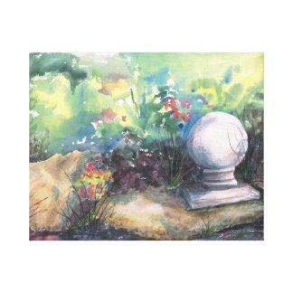 Finial en el jardín lona envuelta para galerías