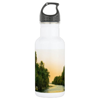 Finikodasos palm forest peace and calm water bottle