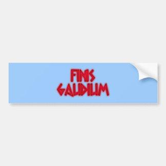 finis gaudium latin bumper stickers