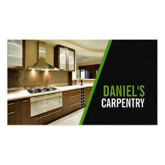 Finish Carpentry, Mill Work, Construction Business Business Card