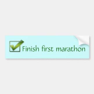Finish first marathon bumper sticker