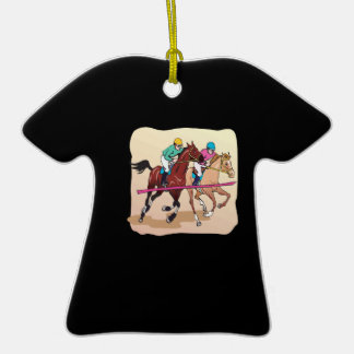 Finish Line 2 Double-Sided T-Shirt Ceramic Christmas Ornament