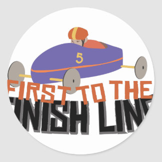 Finish Line Classic Round Sticker