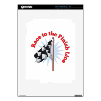 Finish Line Decal For iPad 2