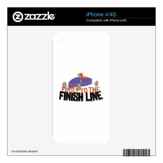 Finish Line Decals For iPhone 4