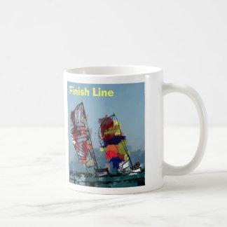 Finish Line Classic White Coffee Mug