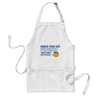 Finish smiley designs aprons
