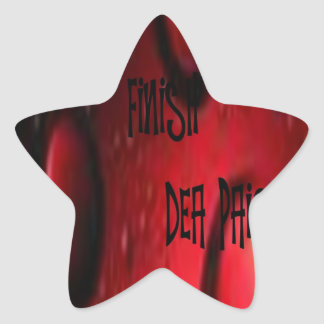FINISH STAR STICKER