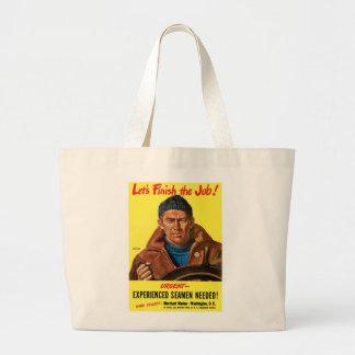 Finish The Job! Large Tote Bag