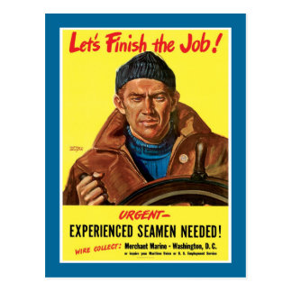 Finish The Job! Post Card