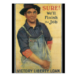 Finish The Job World War II Postcard