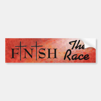 Finish the Race Bible Quote Bumper Sticker
