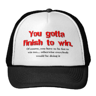 Finish To Win Dirt Bike Motocross Cap Hat