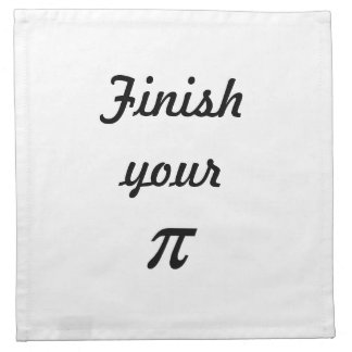Finish your Pi Napkin