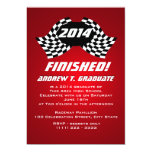 Finished 2014 Racing Flags Graduation Invitation