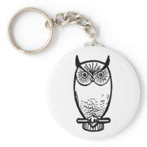 finished-owl-square keychain