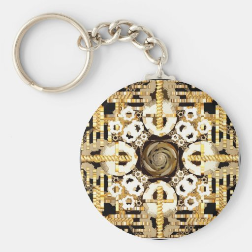 Finite Clockwork Cutout Keychain