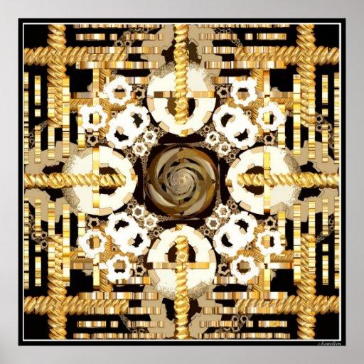 Finite Clockwork Cutout Poster