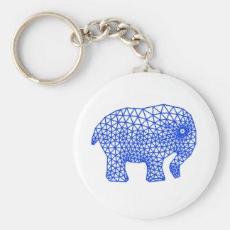Finite Elephant Basic Round Button Keychain