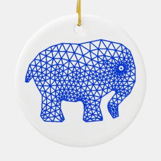 Finite Elephant Ceramic Ornament