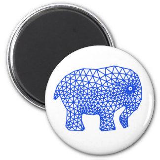 Finite Elephant Fridge Magnet