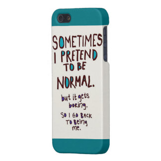 Finja ser caso normal iPhone 5 carcasas