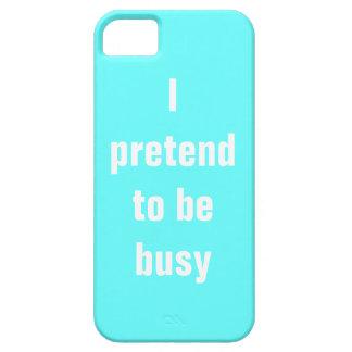 Finjo estar ocupado iPhone 5 Case-Mate cobertura