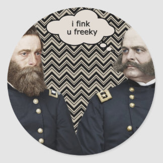 """fink u freeky "" pegatina redonda"