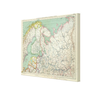 Finland and Russia Canvas Print