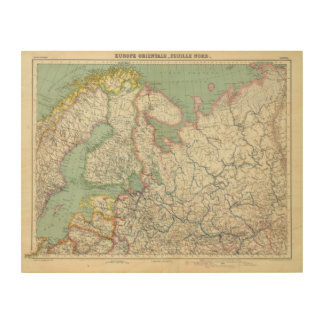 Finland and Russia Wood Wall Art