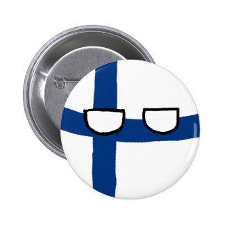 Finland Ball Pinback Button