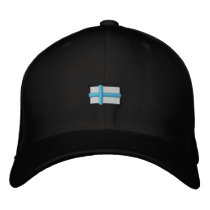 Finland (Black Cap_ Embroidered Baseball Cap