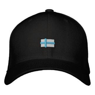 Finland (Black Cap_ Embroidered Baseball Cap