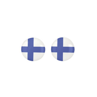 FINLAND Blue And White Flag Earrings