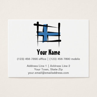 Finland Brush Flag Business Card