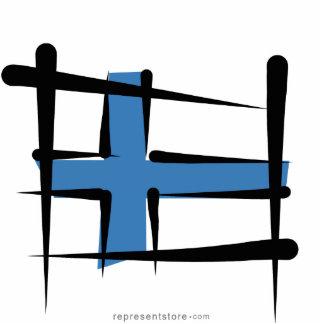 Finland Brush Flag Cutout