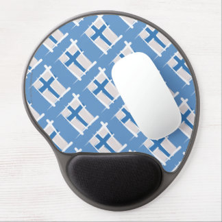 Finland Brush Flag Gel Mouse Pad