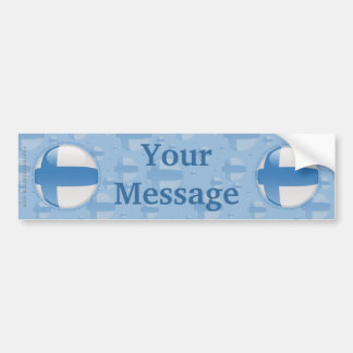 Finland Bubble Flag Bumper Sticker